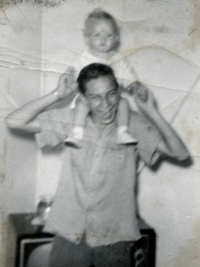With brother Tim, c. 1960.